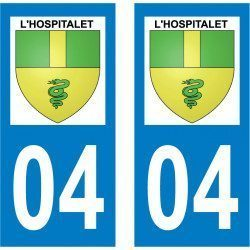 Sticker Plaque L'Hospitalet 04150 - 2