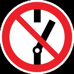 Sticker Panneau Interdit Ne pas commuter