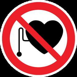 Sticker Panneau Interdit Aux Personnes Porteuses D'un Stimulateur Cardiaque