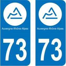 Autocollant Plaque 73 Savoie