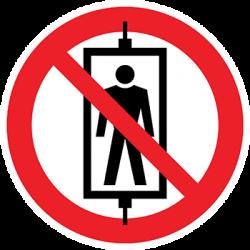 Sticker Panneau Transport De Personnes Interdit