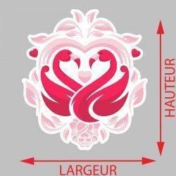 Sticker Love Flamant Rose Deco intérieur - 2