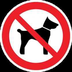 Sticker Panneau Interdit D'amener Des Animaux