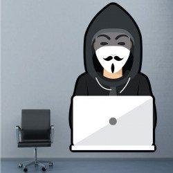Sticker Anonymous Geek Deco intérieur - 1