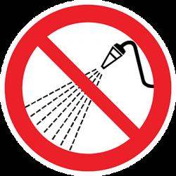 Sticker Panneau Interdit D'arroser D'eau