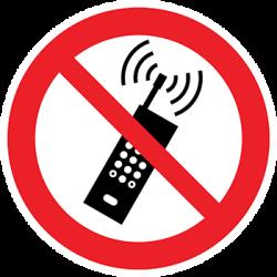 Sticker Panneau Utilisation GSM Interdite