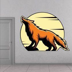Sticker Loup Deco intérieur - 1