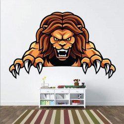 Sticker Lion Féroce Deco intérieur - 1