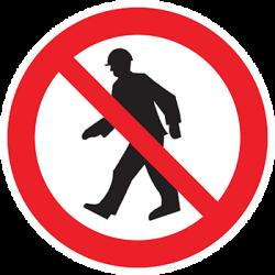 Sticker Panneau Interdit Aux Piétons