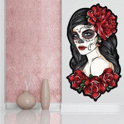 Sticker SugarSkull Rose Deco intérieur - 1
