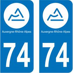 Autocollant Plaque 74 Haute Savoie
