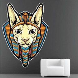 Sticker Chat Egypte Deco intérieur - 1