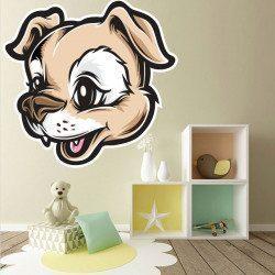Sticker Chien Cartoon Deco intérieur - 1