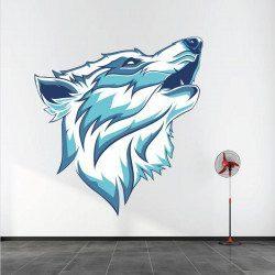 Sticker Loup Blanc Deco intérieur - 1