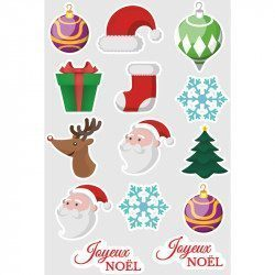 Plaquette de Stickers Noël - 2