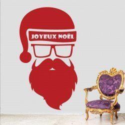 Sticker Père Noël Hipster - 2