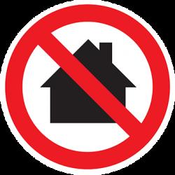 Sticker Panneau Utilisation Interdite En Zone d'Habitation
