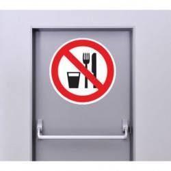 Autocollant Panneau Interdiction De Manger