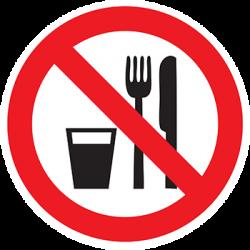 Sticker Panneau Interdiction De Manger