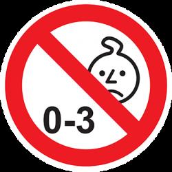 Sticker Panneau Interdit aux Aux Enfants De Moins De 3 ans