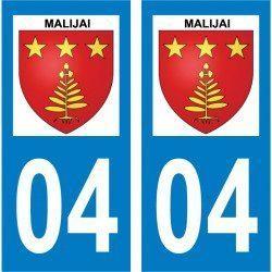 Sticker Plaque Malijai 04350 - 2