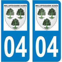 Sticker Plaque Mallefougasse-Augès 04230 - 1