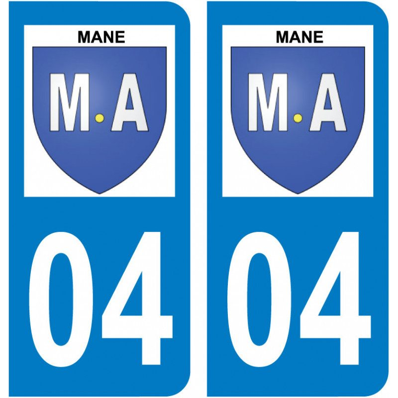 Sticker Plaque Mane 04300 - 1