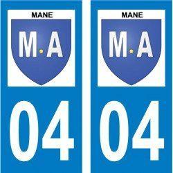 Sticker Plaque Mane 04300 - 2