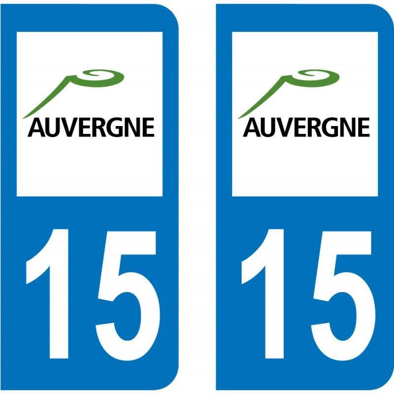 Autocollant Plaque 15 Cantal