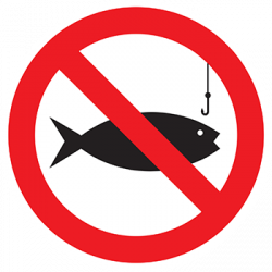 Sticker Panneau Panneau Pêche Interdite