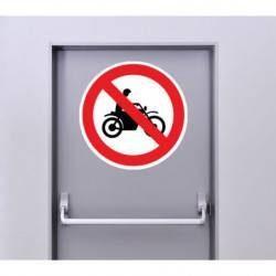 Autocollant Panneau d'Interdiction d'Accès Aux Cyclomoteurs