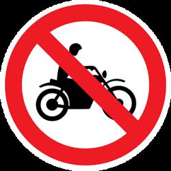 Sticker Panneau d'Interdiction d'Accès Aux Cyclomoteurs