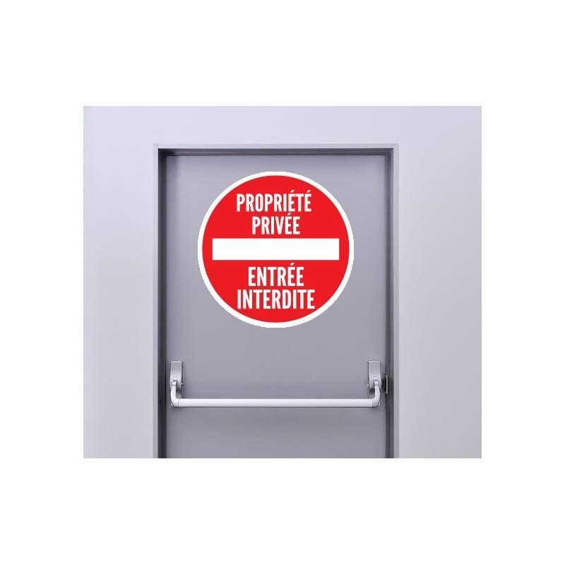 Autocollant Panneau Interdiction Propiété Privée - Entrée Interdite