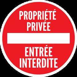 Sticker Panneau Interdiction Propiété Privée - Entrée Interdite