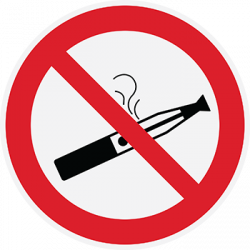 Sticker Panneau Cigarette Electronique Interdite