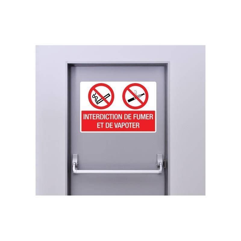 Autocollant Panneau Interdiction De Fumer Et De Vapoter