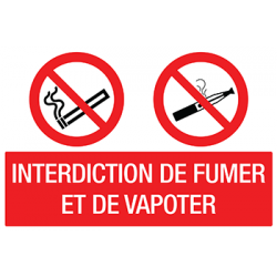 Sticker Panneau Interdiction De Fumer Et De Vapoter