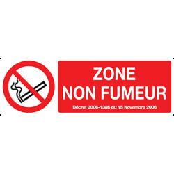 Sticker Panneau Zone Non Fumeur