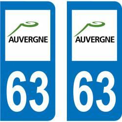Autocollant Plaque 63 Puy de Dôme