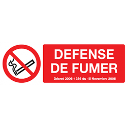 Sticker Panneau Défence De Fumer