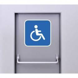 Autocollant Panneau Toilette Handicapé