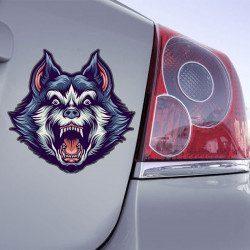Autocollant Loup Face - 1