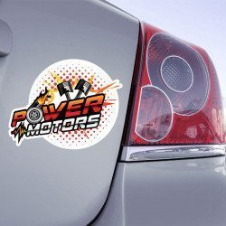 Autocollant Power Motors - 1
