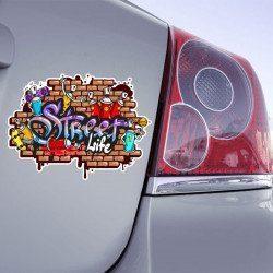 Autocollant Tag Graffiti Street Life - 1