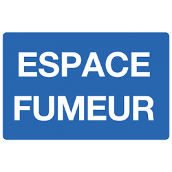Sticker Panneau Espace Fumeur