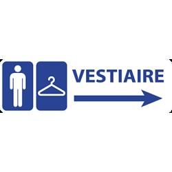 Sticker Panneau Vestiaire Homme Direction Droite
