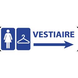 Sticker Panneau Vestiaire Femme Direction Droite