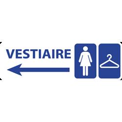 Sticker Panneau Vestiaire Femme Direction Gauche
