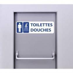 Autocollant Panneau Toilettes Douches Hommes
