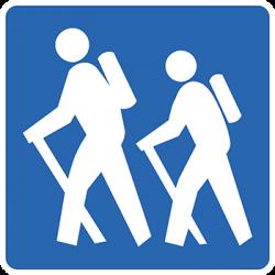 Sticker Panneau Sentiers De Randonnée